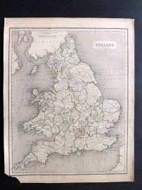 Chambers 1846 Antique Map. England & Wales